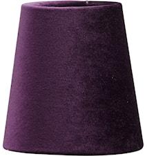Lampeskjerm Queen Fløyel Plomme