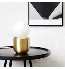 Bordslampa Gleam Ø 12x11cm Mässing