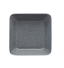Teema tallrik 16x16 cm melerad grå