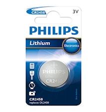 Fashion CR2450 3V 1-pakkaus Lithium