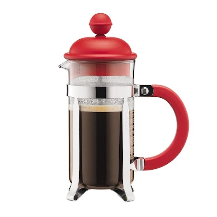 Caffettiera Kaffebryggare 3 koppar Röd