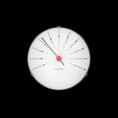 Bankers Termometer Ø12 cm vit/svart/röd