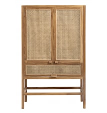 Cabinet, teak, open mesh weaving