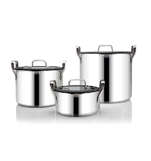 Ensemble de casseroles Stackpot empilables 1 L + 4 L + 8 L