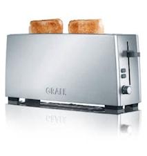 Leivänpaahdin 2 viipaleelle hopea pitkä
