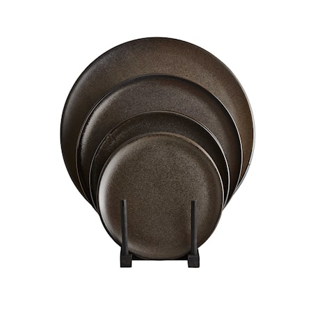 Raw Middagstallrik Metallic Brown 6 st 28cm