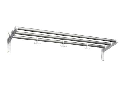 Nostalgi aluminium/vit L=1000 mm hatt/skohylla
