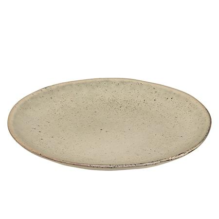 Desserttallerken Stengods Nordic Sand Ø20 cm