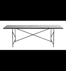 Dining table 230 cm mässing -Vit