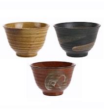 Japanska Keramik Matchaskålar set om 3