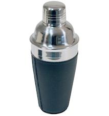 Shaker acier inoxydable en cuir synthétique noir 0,5 L