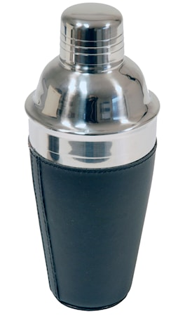 Shaker rostfritt i svart konstläder 0,5l
