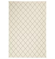 Diamond Dhurry Matta Ull Off White/Navy 230x336 cm
