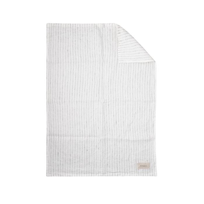 Keittiöpyyhe Valkoinen Mustilla Raidoilla 50x70 cm