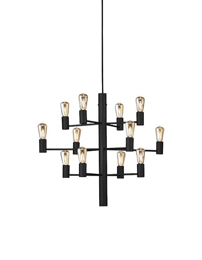 Manola 12 Kronor Svart E14 Dimbar LED