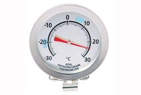 Analogt fryse-/kjøleskapstermometer med clips