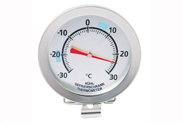 Analogt fryser- og køleskabstermometer med clips