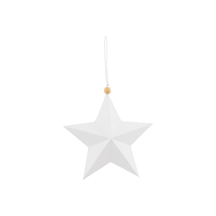 Ornament Star 12 cm Vit