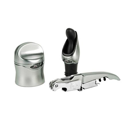 Zippity Wine Tool Kit – Silver