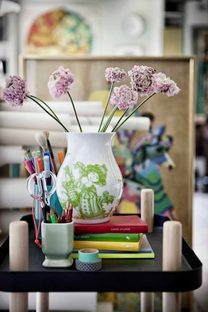 Vas, Rosegarden, grøn, H 18 cm