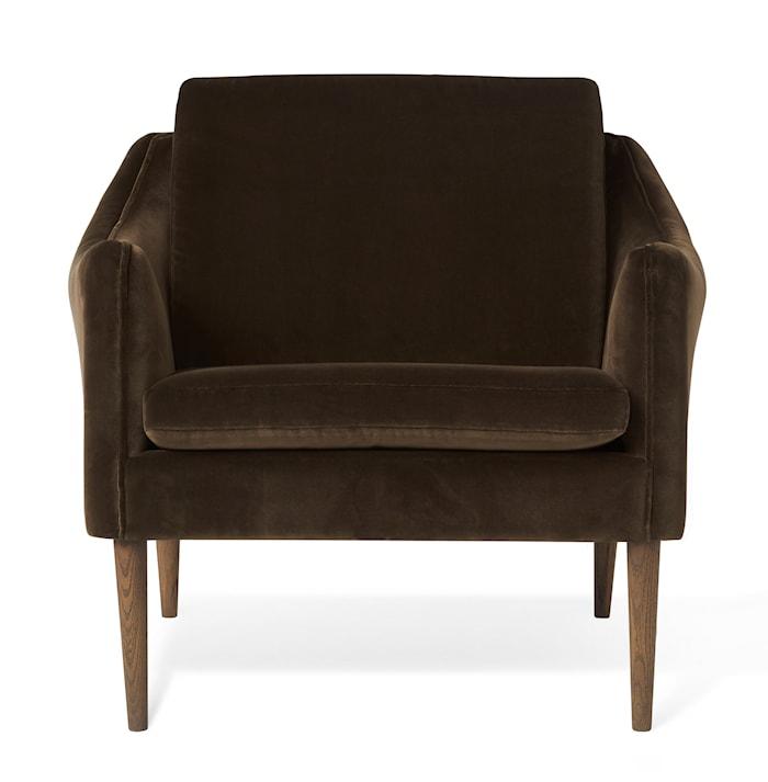 Mr. Olsen Lounge Chair Java Brown Sammet Smoked Ek