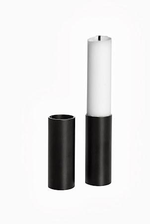 Ljusstump Hög svart 2-pack