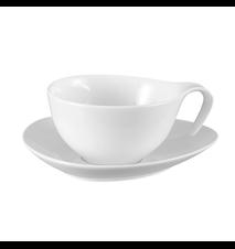 Time Cappucino/kaffekopp med fat Vit 15cl