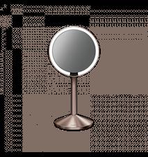 Sensor Spegel Mini Uppladdningsbar Roséguld