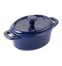 Gryta Oval Mini Keramik Blå 11 cm 0,2 L