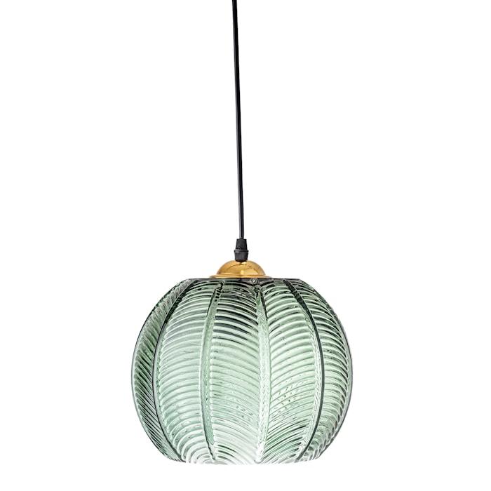 Taklampe Grønt glass Ø22xH20cm