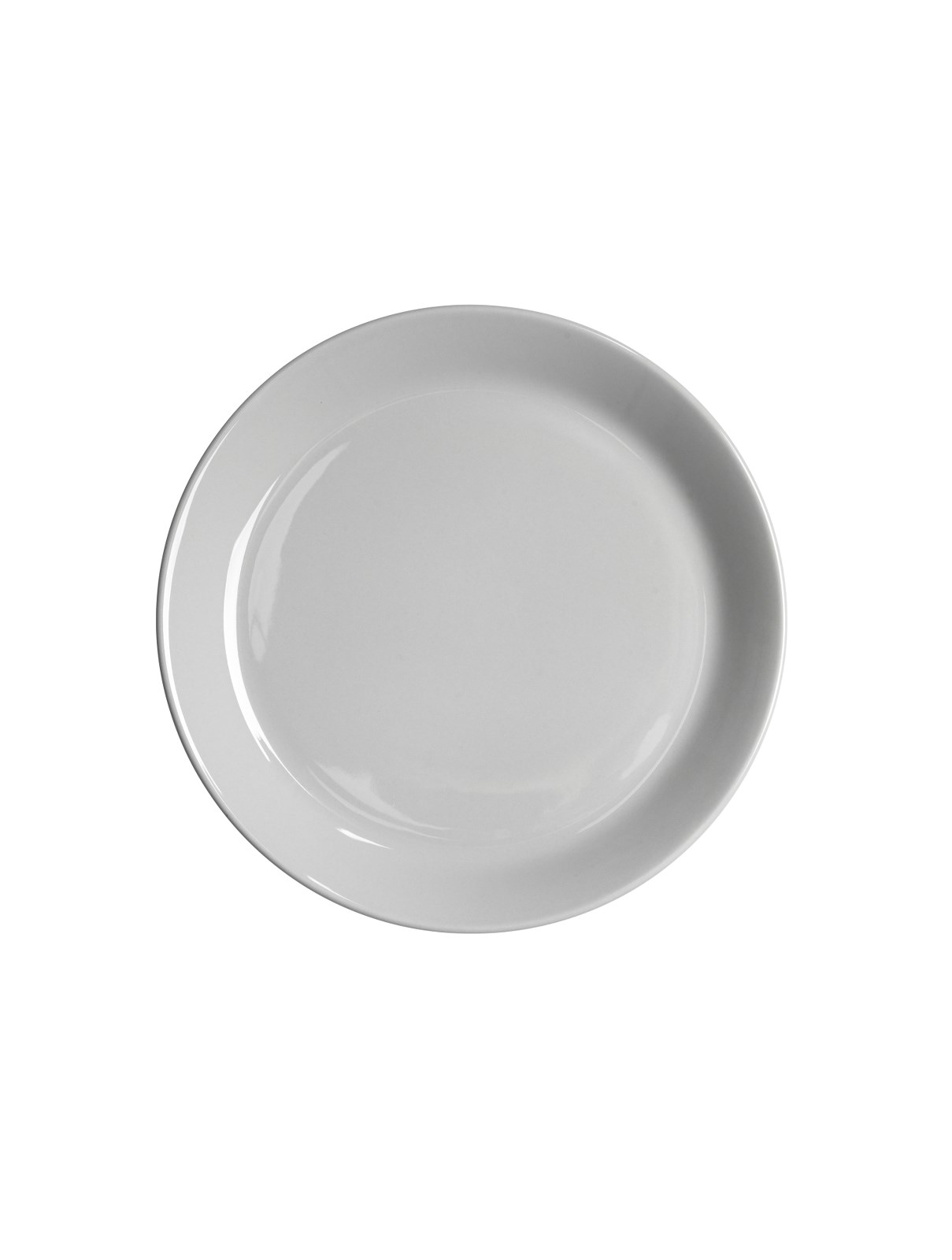 Assiett med kant 20 cm kiselgrå blank