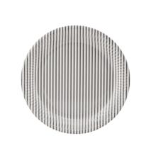 Papperstallrik Stribe 01 Ljusgrå