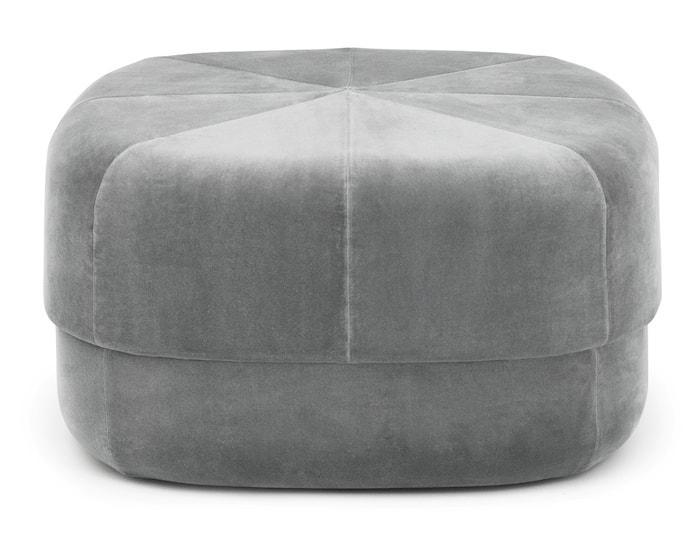 Circus pouf sittpuff velour large - Grey