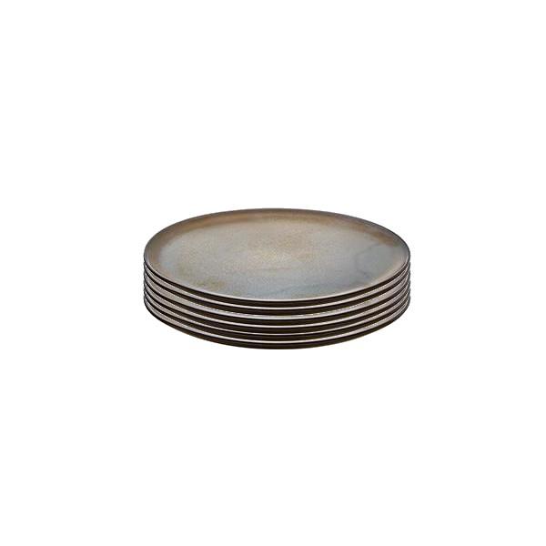 Raw Desserttallrik Metallic Brown 6 st 20 cm