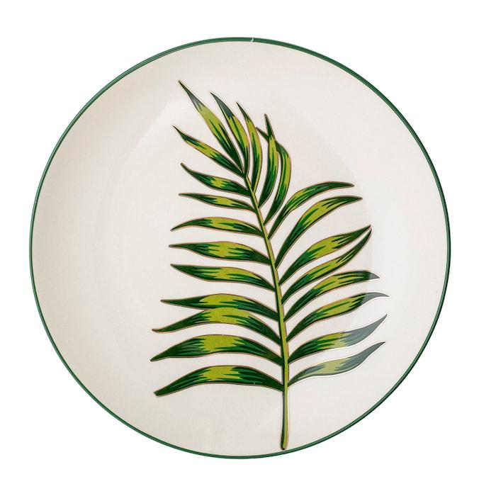 Moana Plate, Green, Stoneware
