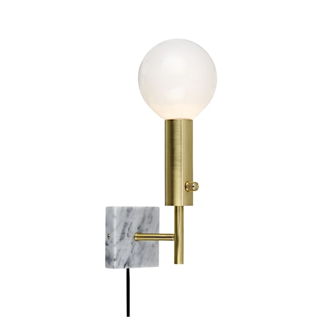 Marble Square Vegglampe Messing