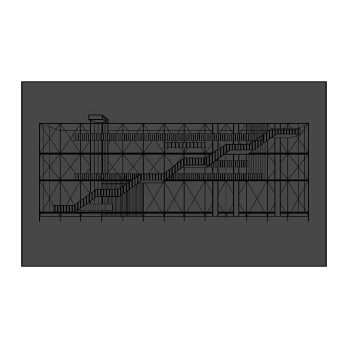 Pompidou Poster Svart
