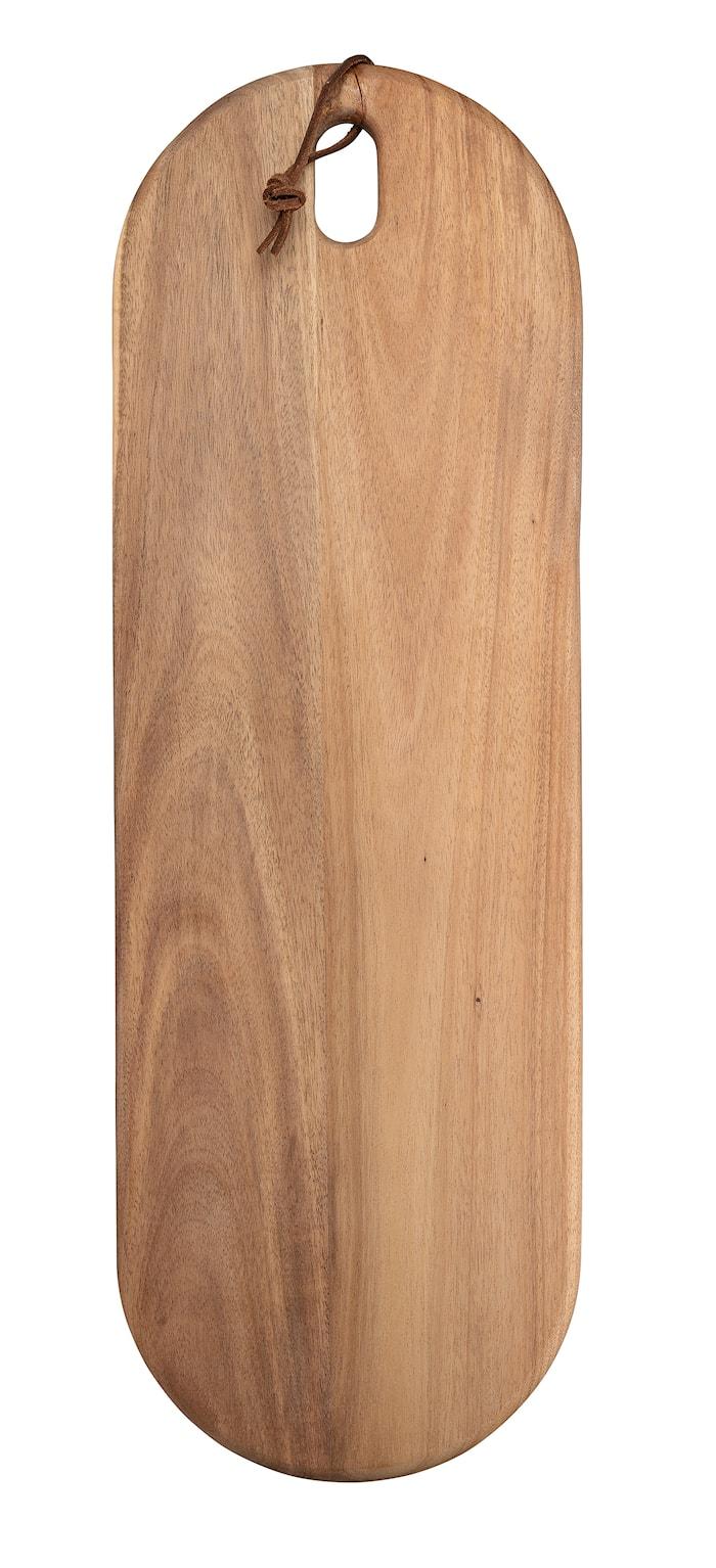 Planche à découper Ovale Bois d'acacia 54 cm x 18 cm