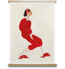 Red With Pearls Poster 50x70 cm