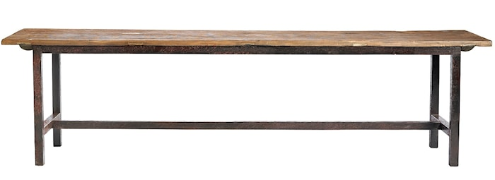 Raw bench wood