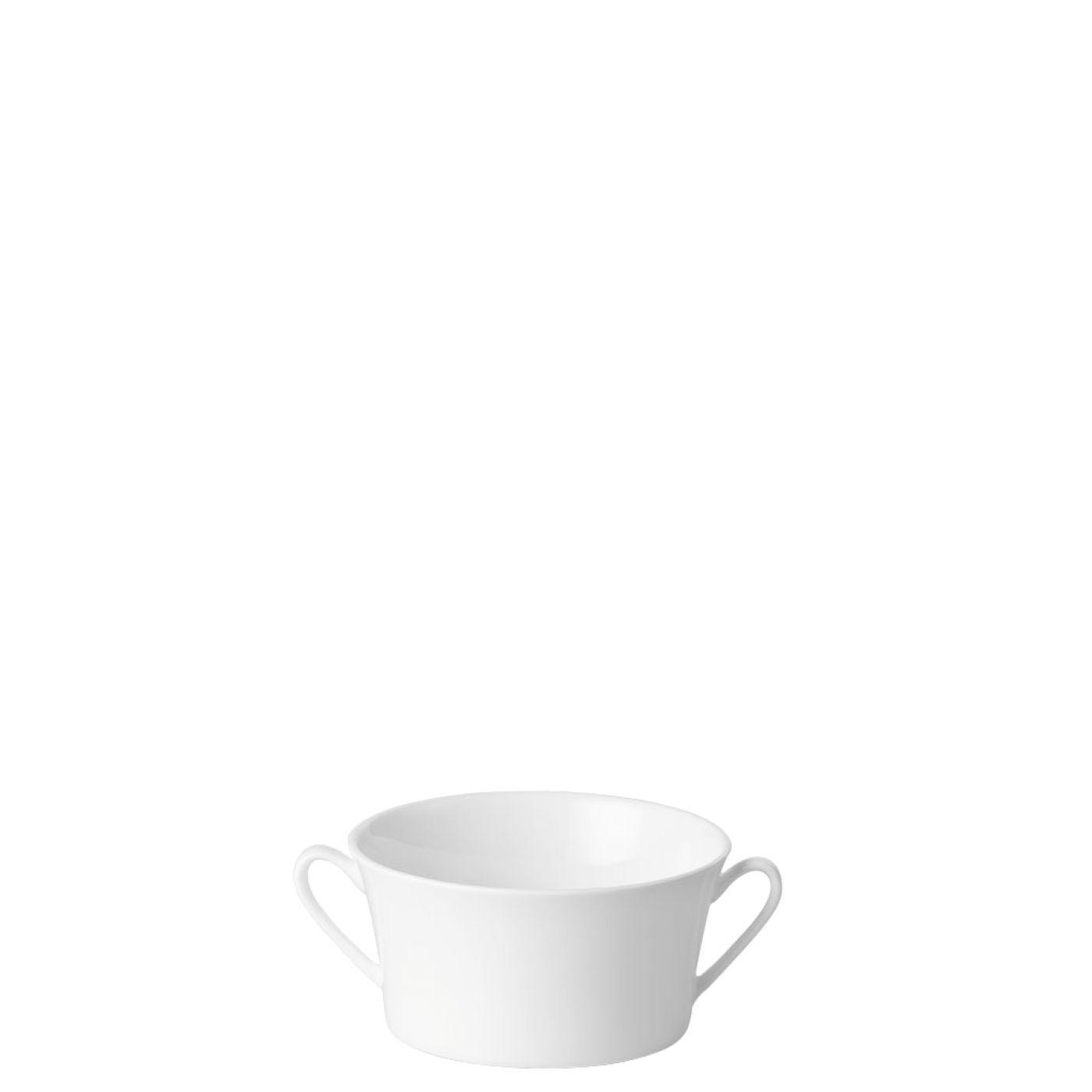 Jade Vit Soppskål med handtag 35 cl