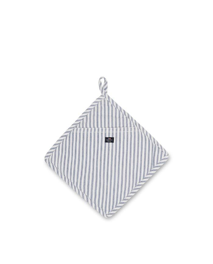 Icons Cotton Herringbone Grytlapp Blå/Vit One Size