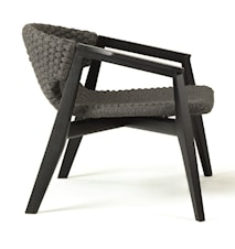 Knit armchair - Black mahogany
