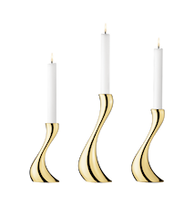 Cobra Kynttilänpidike 3 pack Kultapäällystetty