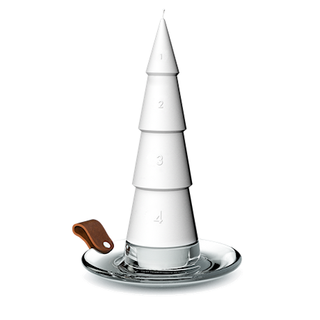 DWL Adventsljus vit Ø6,5 cm