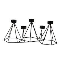 Form Living Candelero para velas metal 41x15x21,5cm negro