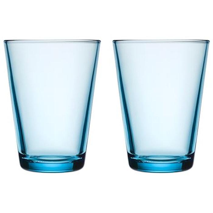 Kartio Lysblå Glas 40 cl 2-pak
