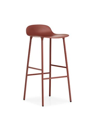 Form Barstol Röd 75 cm