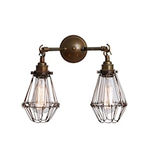 Rigo double cage væglampe