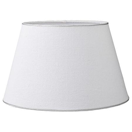 Lampskärm Rustic Linen Ø25cm Vit